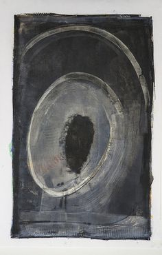 And so it Begins- oil and cold wax, Karen Darling