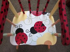 Children's Ladybug Rocking Chair by FrogsAndFairytales on Etsy, $150.00