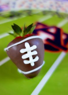 Chocolate Covered Football Strawberries | Plain Chicken