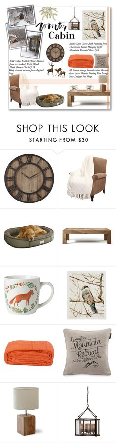 """""""Winter Cabin"""" by lauren-a-j-reid ❤ liked on Polyvore featuring interior, interiors, interior design, home, home decor, interior decorating, Flamant, Lexington, Garden Trading and Varaluz"""