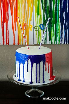 Art Birthday Cake Tutorial ~ Plus a White Velvet Cake Recipe