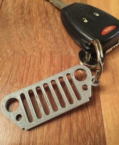 Jeep Wrangler Grill Keychain {Created on a MakerBot 5th Generation 3D printer}