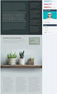 article layout ui design web design