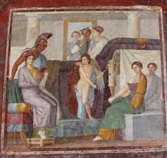 """Mars and Venus"" - painting style, julio-claudian age, AD - The house of Marcus Lucretius Fronto at Pompeii, recently opened - Plan: letter h Ancient Pompeii, Pompeii Ruins, Pompeii And Herculaneum, Ancient Art, Ancient History, Art History, Ancient Roman Clothing, Venus Painting, Art Romain"