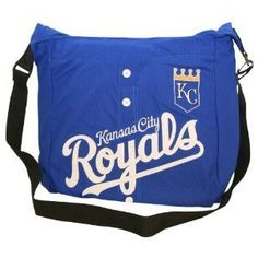 """Kansas City Royals """"Jersey Style"""" Messenger Bag / Purse by Little Earth. $28.99. This bag is perfect for going to the game, school, or the office. It has plenty of room for snacks, books or your laptop."""