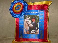 Horse Show Ribbon Pillow