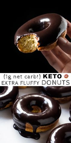 (1g net carb!) Baked Gluten Free & Keto Donuts #keto #lowcarb #glutenfree #donuts