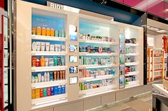 IVC is specialized in creating exceptional cosmetic merchandising walls.