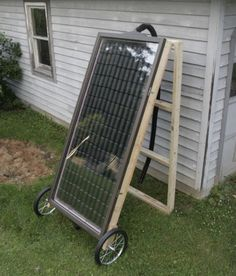 Calefacción solar casera