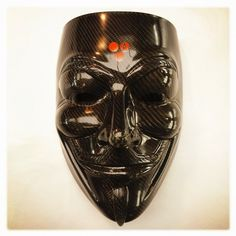 Fancy - Guy Fawkes's Tactical Carbon Mask - Ultrakolos Industry Co. Guy Fawkes Mask, Tactical Gear, Outdoor Gear, Arts And Crafts, Skull, Mask Ideas, Cosplay, Fancy, Superhero