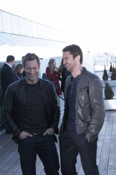 HQ Gerard Butler & Aaron Eckhart: Moscow Photo Call for Olympus Has Fallen - March 29, 2013