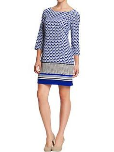 @Kristen Whitworth - totally reminds me of you!  Women's Crepe Shift Dresses | Old Navy