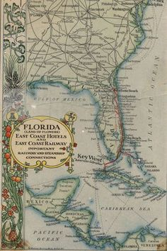 Old Florida Travel Guide map 1912 #FabFlorida