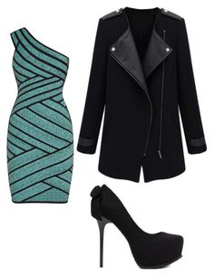 """Untitled #1481"" by bellagioia ❤ liked on Polyvore featuring Hervé Léger"
