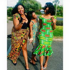 I Do Ghana   Sisters Celebrating Their Brother's Wedding   Wedding Guests   Kente Fashion   African Fashion
