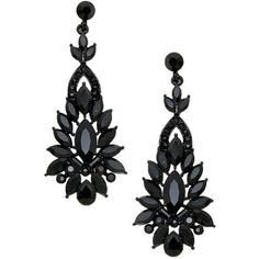 Black chandelier earrings tear drop jet black crystal chandelier jet black crystal earrings chandelier 2 12 long 38 liked mozeypictures Image collections