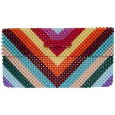 DEL DUCA Anna Clutch ($490) ❤ liked on Polyvore featuring bags, handbags, clutches, print handbags, woven handbag, multicolor handbags, multi colored handbags and multi colored clutches
