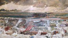 'The Old German Front Line, Arras, 1916', by Charles Sims. 1919.