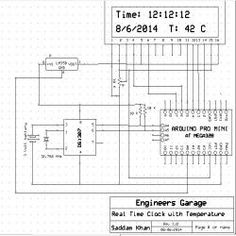 79 best arduino projects images arduino projects, engineeringreal time clock with temperature using arduino circuit diagram arduino circuit, arduino projects,