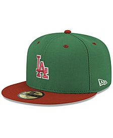 6a97bcda7 New Era Los Angeles Dodgers Green Red 59FIFTY FITTED Cap | Teams ...