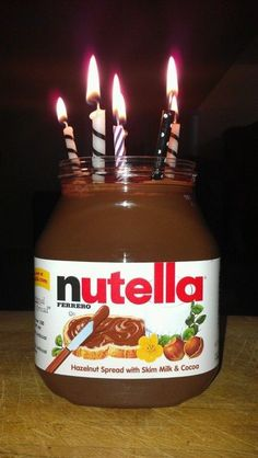 And here is your favorite nutella jar cake ; Birthday Messages, Birthday Images, Happy Birthday Wishes, Birthday Quotes, Birthday Greetings, Birthday Cards, My Birthday, 15th Birthday Cakes, Funny Birthday Cakes