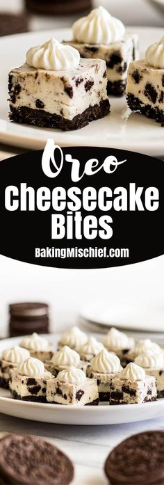 Small-batch No-bake Oreo Cheesecake Bites are the perfect bite-sized treat. They're cute, tasty, and almost too easy to make! | Small-batch Desserts | Frozen Treats |