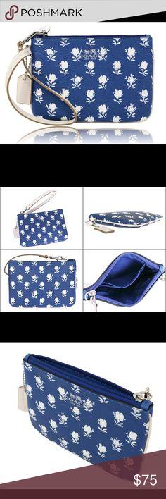"NWT Coach adorable floral wristlet NWT Coach adorable floral wristlet!! Measures 6.5"" in length & 4"" in height Coach Bags"