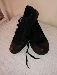 f827fc64de4a Converse All Stars Chuck Taylor Black Canvas Casual Shoes Mens Womens