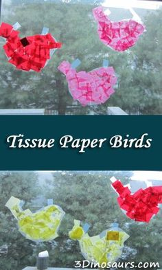 Tissue Paper Birds - Birds of Bethlehem