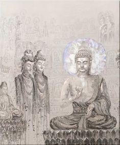 Flott Buddha bilde - Oljemaling på lerret. Hvert enkelt bilde er håndmalt og vil kunne ha små variasjoner i farge og tekstur.Mål:Bredde 100 cmHøyde 120 cmVekt:Ca 3,5 kgVarenummer:670587