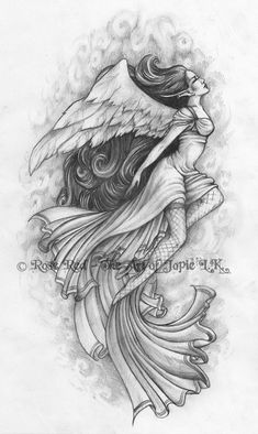 Japanese Angel Tattoos Design Hi Here we have great photo about japanese angel tattoo designs. We hope these photos can be your buoyant insp. Angel Tattoo Drawings, Angel Drawing, Angel Tattoo Designs, Tattoo Sketches, Tattoo Designs Men, Angels Tattoo, Tribal Tattoos, Tattoos Skull, Love Tattoos