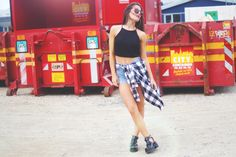 The cool blogger Lida spotted wearing our checked shirt. See more on the blog: http://iliridak.wordpress.com/ #objectfashion