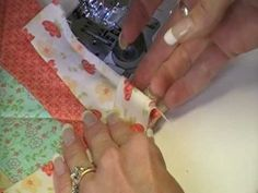 ▶ How to Miter Sew a Corner Using Binding - YouTube