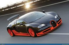 Bugatti Veyron Supersport. the fastest bugatti. faster than the 16.4 and the grand sport. the actual fastest street legal car in the world