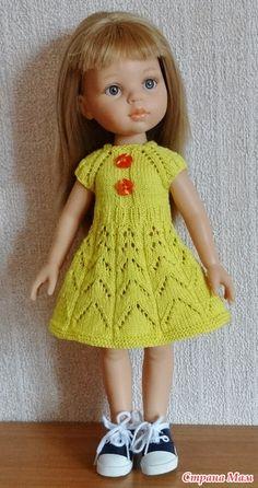 Платье спицами для Paola Reina - http://www.stranamam.ru/post/9751052/