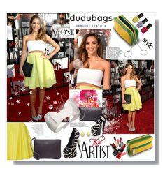 """DUDU BAGS"" by bellamonica ❤ liked on Polyvore featuring Alba Botanica, Thakoon Addition, DUDU, Giuseppe Zanotti, Dsquared2, Deborah Lippmann and Mercedes-Benz"