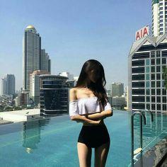 -ˏˋ 💋 ˊˎ- ➷ulzzang ღ girls➶ body goals Korean Girl Fashion, Ulzzang Fashion, Kpop Fashion Outfits, Korean Outfits, Mode Outfits, Sexy Outfits, Fashion Fashion, Skinny Girl Body, Skinny Girls