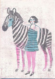 Katrin Stangl woodcut ok, so not a horse but so lovely I will let that pass :)