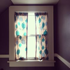 Easy Sew Curtains. Tutorial link to Visual Eye Candy.