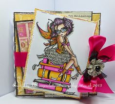 Digital Stamp  Instant Download  Library Fairy  by CraftsandMe