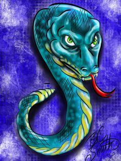 A Snake by B.C. Smith 2013 - Created In #procreateapp