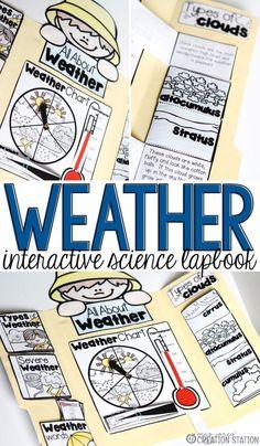 Mrs.Jones' Creative Station - Interactive Science Weather Lapbook