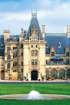 The Biltmore Estate in Asheville, North Carolina. Visit, explore the grounds, and stay a while. it is in ashville, north carolina. it is beautiful ! Asheville North Carolina, North Carolina Homes, Asheville Nc, Palaces, The Places Youll Go, Places To See, Biltmore Estate, Architecture, Dream Vacations