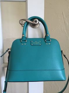 Kate Spade Wellesley Small Rachelle Satchel Turquoise Leather | eBay