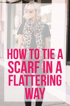 Let's talk scarves - specifically how to tie a scarf in a flattering way. I personally love scarves! But like any layer, they can add bulk. Ways To Wear A Scarf, How To Wear Scarves, Tie Scarves, Vintage Fashion 1950s, Victorian Fashion, Vintage Hats, Christian Dior Couture, Leopard Scarf, Kentucky Derby Hats
