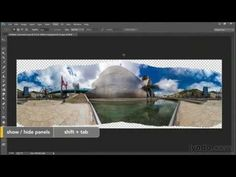 Correcting a distorted panorama | Photoshop | lynda.com - YouTube