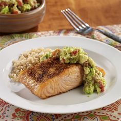 I made this Pan-Seared Salmon with Guacamole from ReadySetEat. Try the recipe at http://www.readyseteat.com/recipes-Pan-Seared-Salmon-with-Guacamole-8007.html
