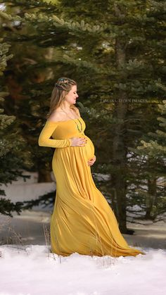 a1a1a4aa baby shower dress/maternity dress for photo shoot/Maternity Gown/Maternity  Dress/Maternity Dress for baby shower/gold dress/baby shower gift