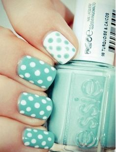 Polka dots. I'd do the reversed one on the ring finger instead