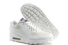 Mens Nike Air Max 90 USA Flag All White Trainers